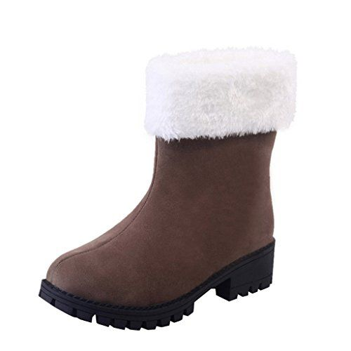 Dear Time Women Foldable Fur Lined Mid Calf Boots US 75 ** Learn more by visiting the image link.