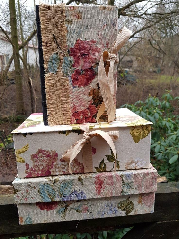 Fabrics covered boxes by Beata Jarmolowska