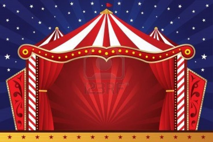 illustratie van een circus achtergrond Stockfoto