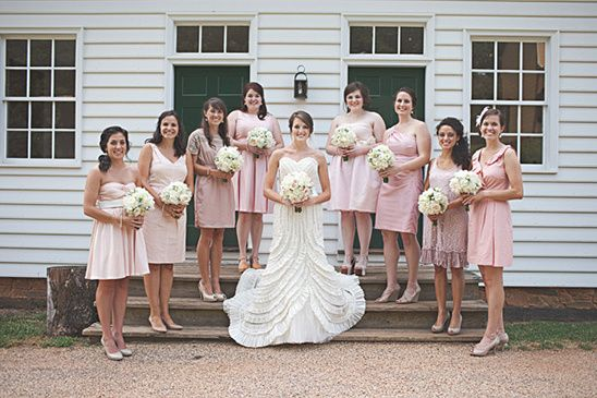 Pink And White Shabby Chic Wedding