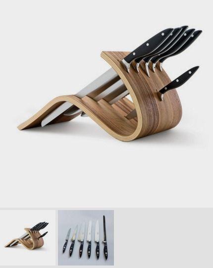 Essentium 6-Piece Resin Handle Knife Set // Walnut Block - Del Ben - Touch of Modern