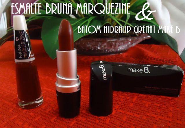 Alana Baggioto: Esmalte Blood by Bruna Marquezine + Batom Hidralip...