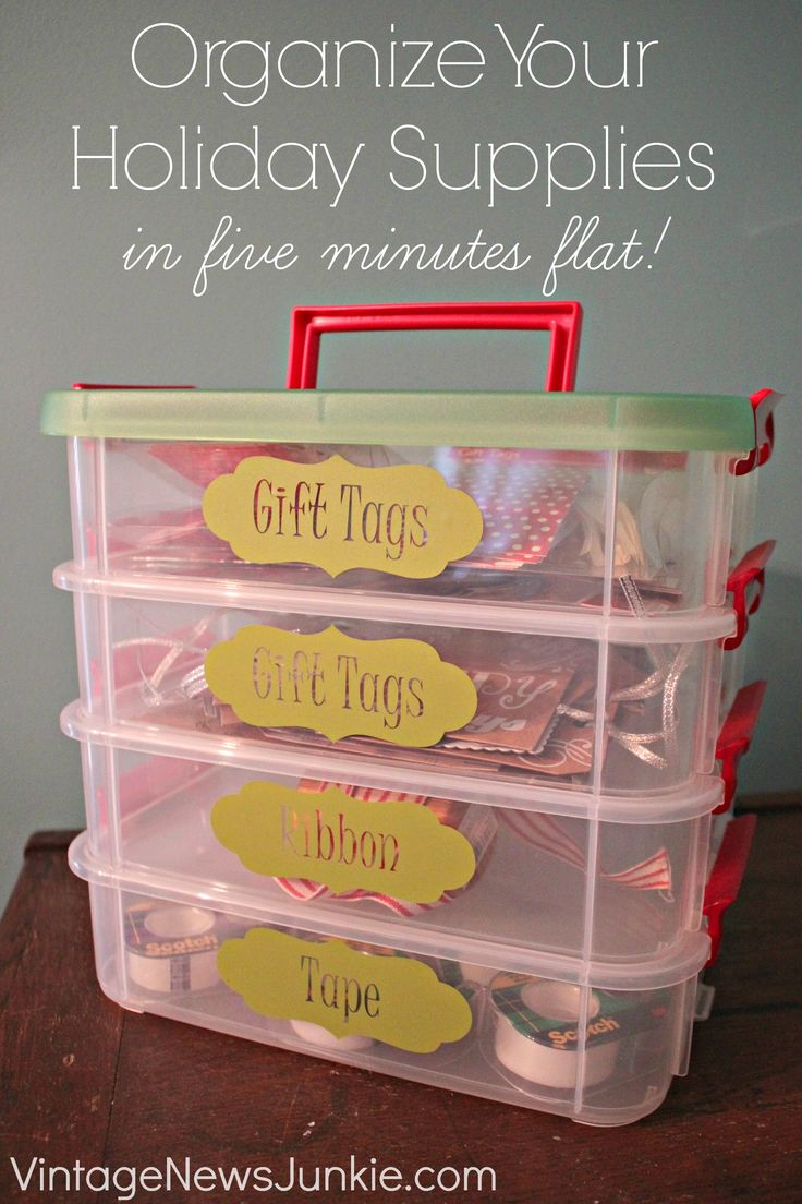 Organize Your Holiday Supplies in Five Minutes Flat {Quick Easy Solutions}