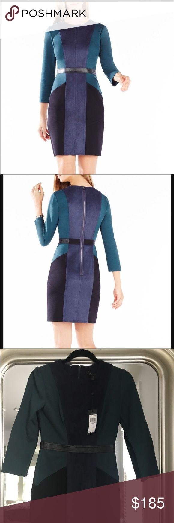 Selling this Beatriz Color-Blocked Faux-Suede Dress on Poshmark! My username is: csauer85. #shopmycloset #poshmark #fashion #shopping #style #forsale #BCBGMaxAzria #Dresses & Skirts