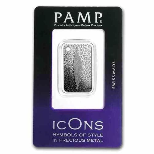 New-10g-Silver-Pamp-Suisse-icOns-Stingray-Skin-999-fine-Silver-Ingot-Pendant