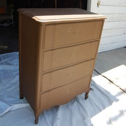 Spray painting furniture is an easy and fast way to transform a piece to fit in with your home decor. The most difficult part is often findi...