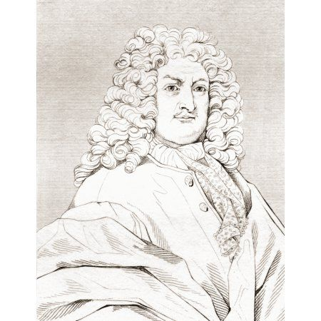 Gottfried Wilhelm Leibniz 1646 Canvas Art - Ken Welsh Design Pics (24 x 32)