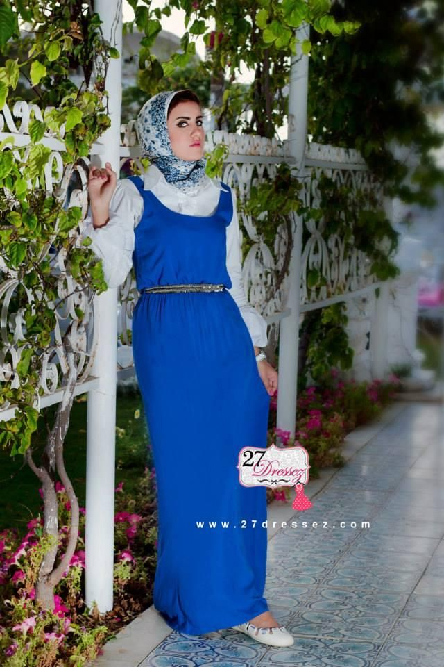 blue maxi dress  Hijab casual outfits by 27dressesz http://www.justtrendygirls.com/hijab-casual-outfits-by-27dressesz/