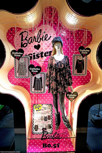 Barbie x PopSister at LaForet Harajuku