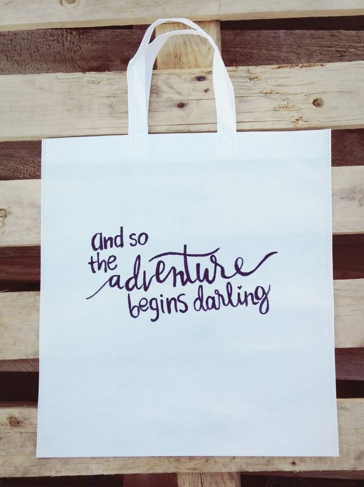 And So The Adventure Begins Darling Woven Tote <3