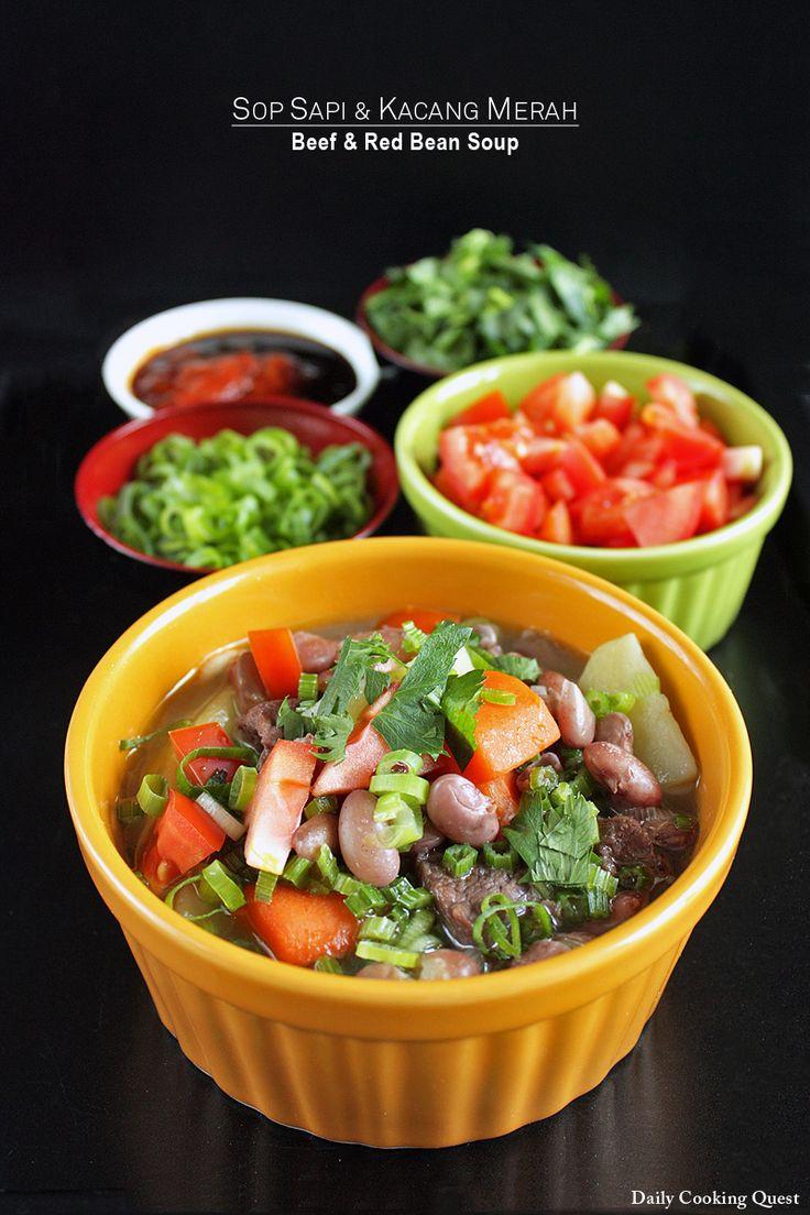 Sop Sapi dan Kacang Merah - Beef and Red Bean Soup