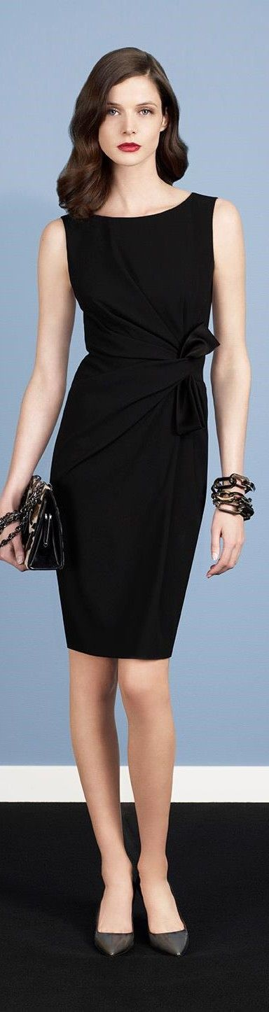 Designer fashion | Paule Ka black fold dress