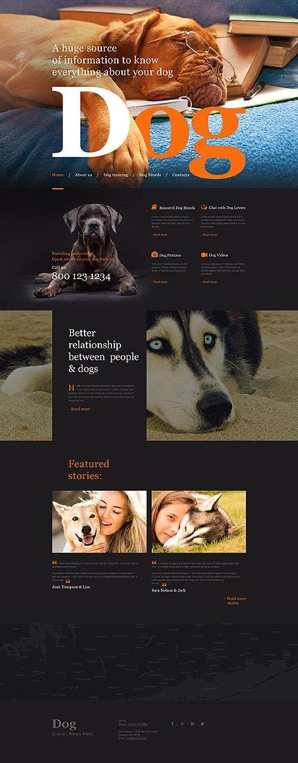 Web / Dogs Care website template