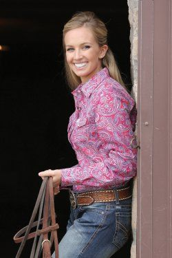 Cinch Women's Pink Paisley Snap Western Shirt