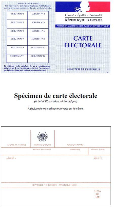 Spécimen de carte électorale - Quoi de neuf ?