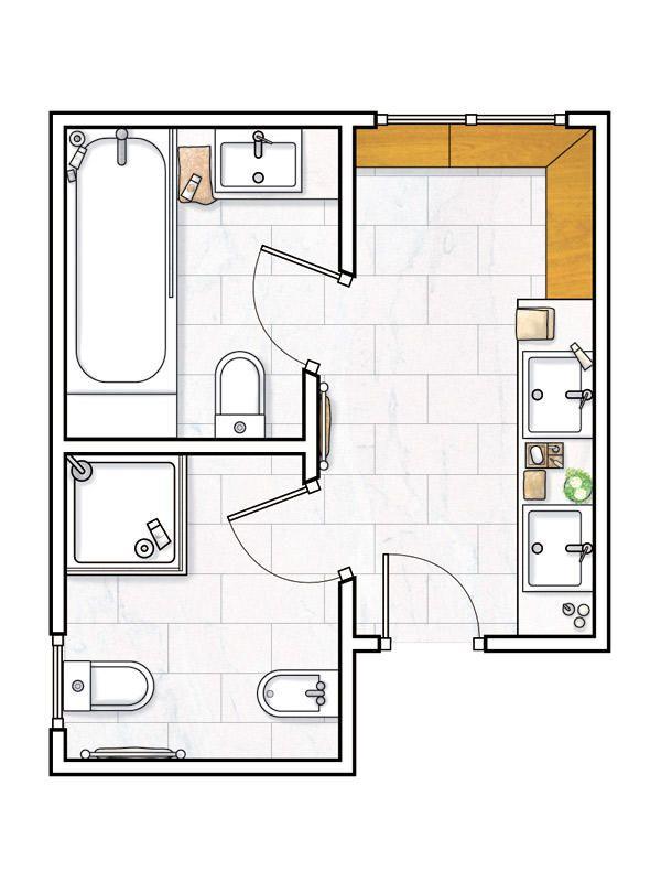17 mejores ideas sobre planes de peque os cuartos de ba o for Planos de cuartos de bano pequenos