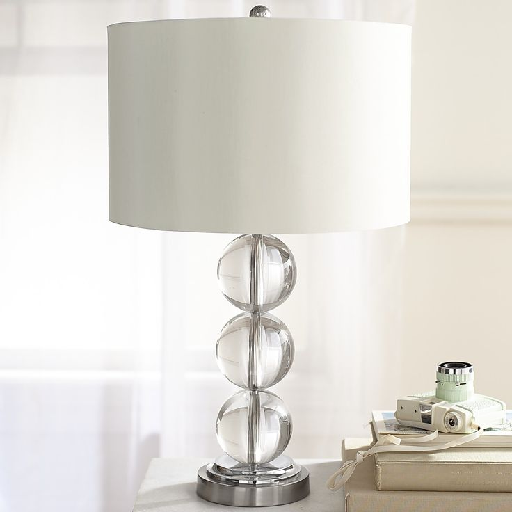 Serena Crystal Table Lamp Clear Table Lamp Bedroom Lamps Bedside Lamp