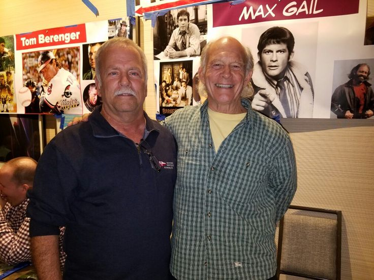 """My dad poses with Max Gail of """"Barney Miller"""" fame at the Chiller Theatre Convention at the Hilton Parsippany Hotel in Parsippany, New Jersey."""