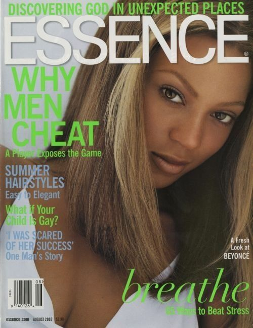 Beyonce on the cover of 2003 Essence Magazine