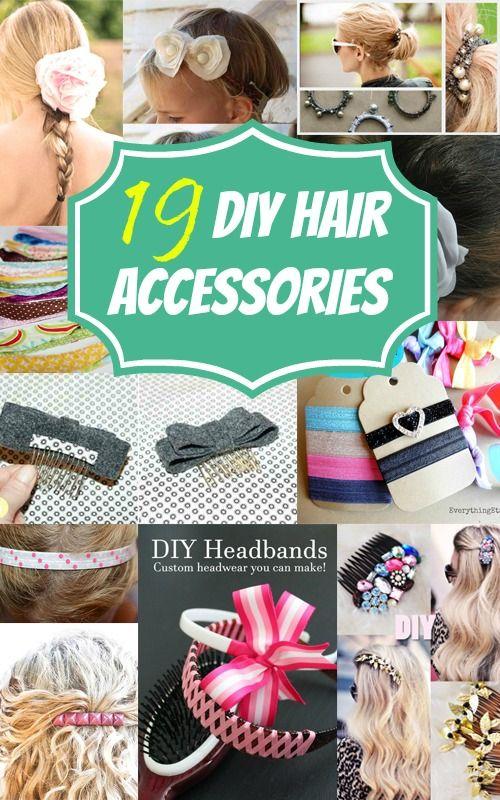 19 DIY Hair Accessories for Homemade Fashion Fun