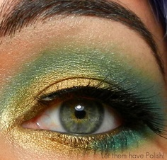 green and gold #beauty #makeup