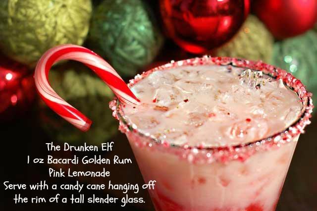 Christmas Cocktail- The Drunken Elf #Barcardi #Rum #LuekensLiquors #holiday #cocktails