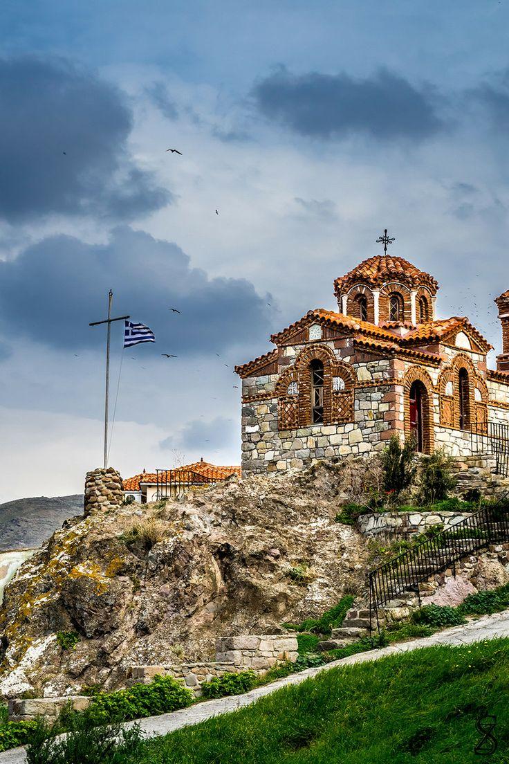Church in Sigri, Lesvos, Greece
