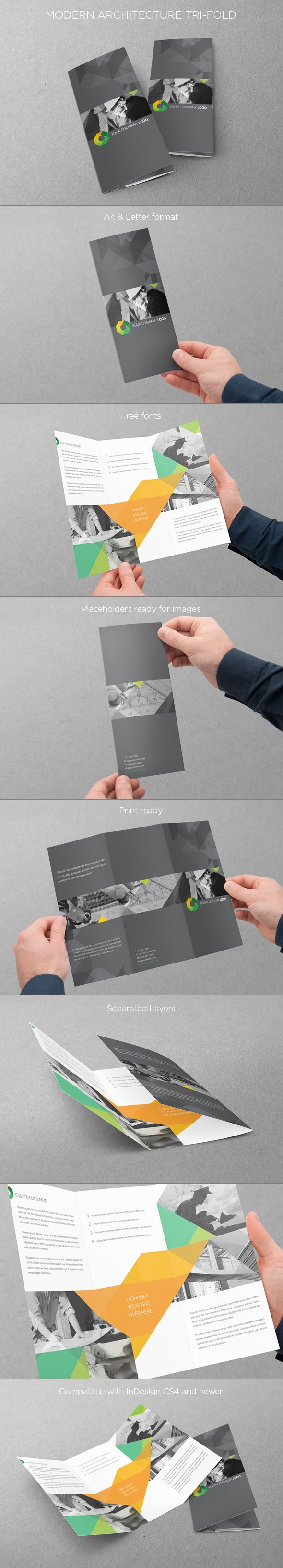 Modern Architecture Trifold. Download here: http://graphicriver.net/item/modern-architecture-trifold/5505273 #design #trifold #brochure