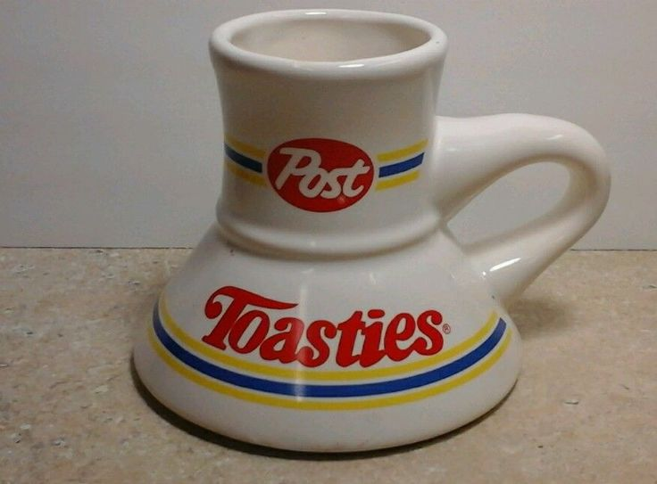 Post Toasties Cereal Coffee Cup, Cool Vintage Advertising #PostCereal