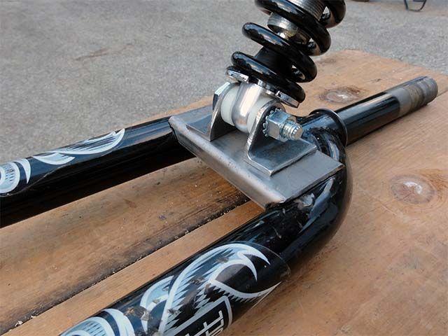 Установка амортизатора на прицеп для велосипеда