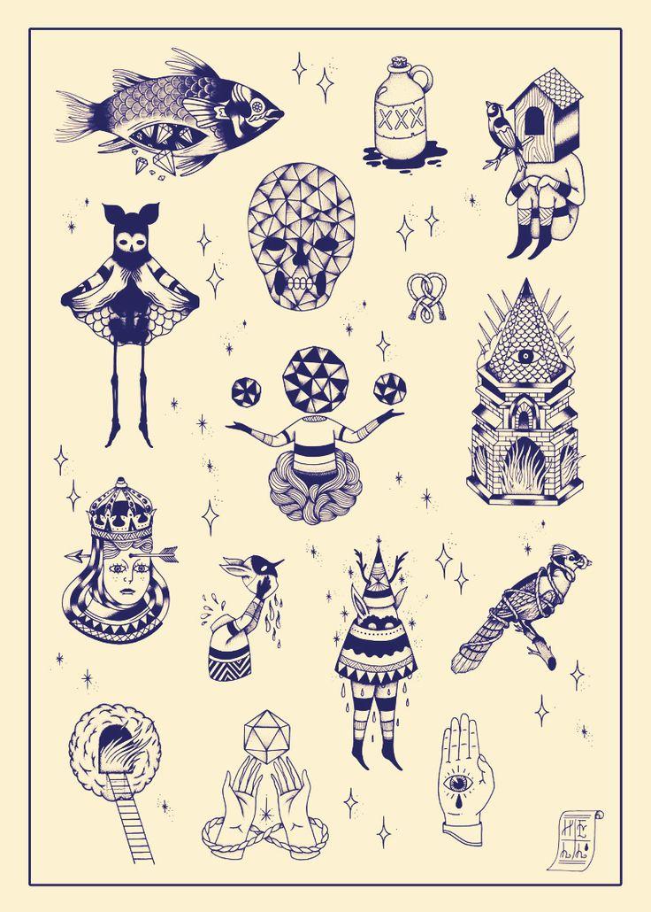 Oh ship!  tattOOs by Jéôme meYnen  http://ohshiptattoo.tumblr.com/