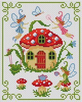 Cross Stitchers Club.  OOOoooo a way of getting all my little houses I love so much... stitch them. What a novel idea ~!~