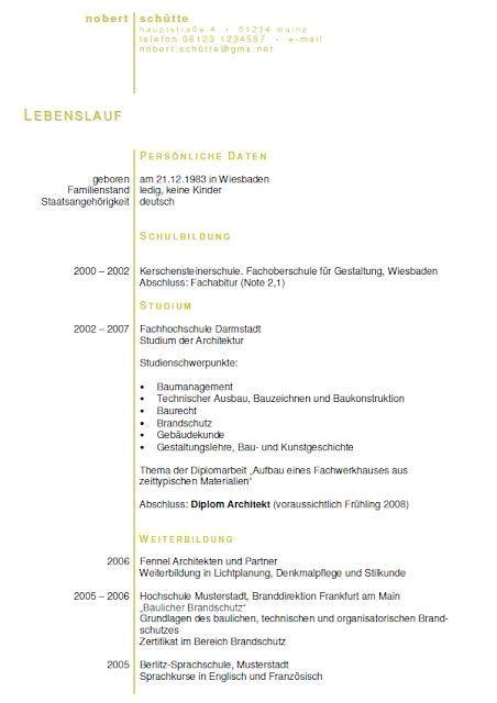 Architekt Bewerbungsschreiben Resume Templates Click Picture For