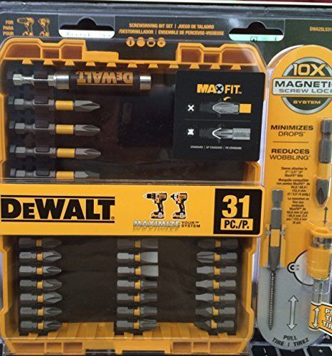 DeWalt Drill Magnetic Screw Lock System Screwdriver Bit 31 Piece Set Model DWA2SLS31HP *** Find out more about the great gardening product at the image link.