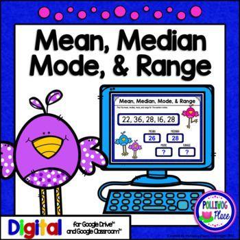 Mean Median Mode & Range Statistics Activity for the digital interactive classroom.
