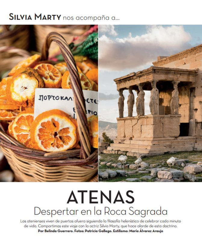Spanish Actress Falls in Love with Athens in De Viajes Travel Magazine.
