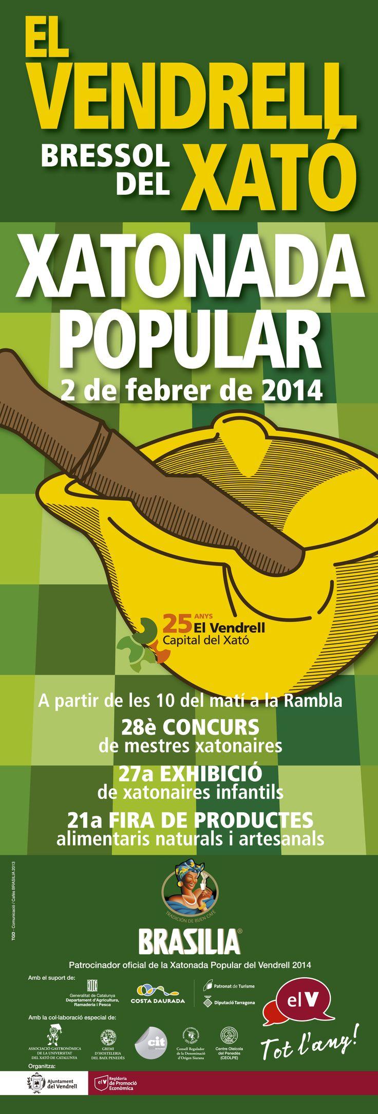 Cartell Xatonada Popular El Vendrell, 2014