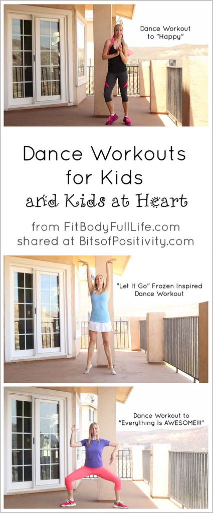 "Dance Workouts to ""Happy,"" ""Let It Go,"" and ""Everything Is AWESOME!!!"" for Kids (and Kids at Heart)"
