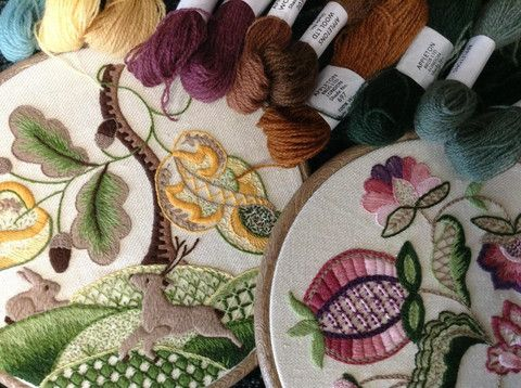 Crewelwork Embroidery – The Bluebird Embroidery Company