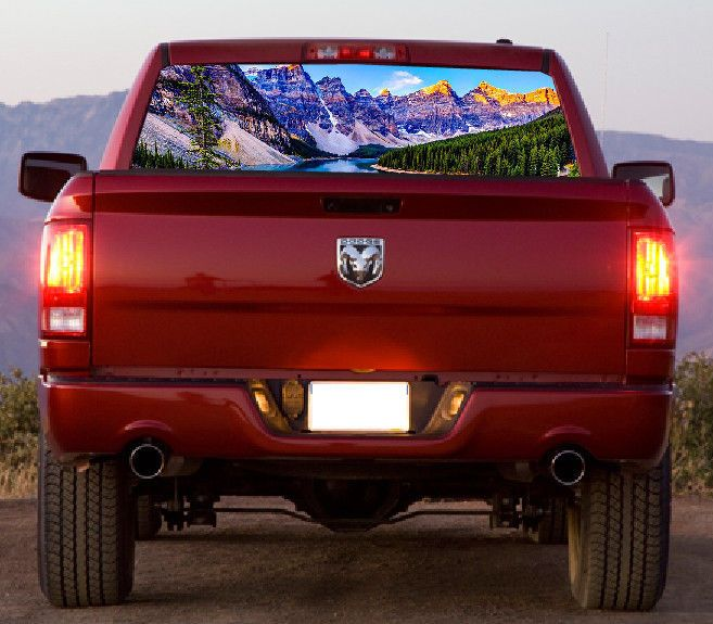 Custom Rear Window Graphic Decal Tint Print Sticker Truck SUV Car Perforated…