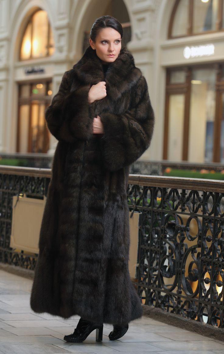 long sable fur coat | Minks | Pinterest | Fur coats, Fur coat and Fur