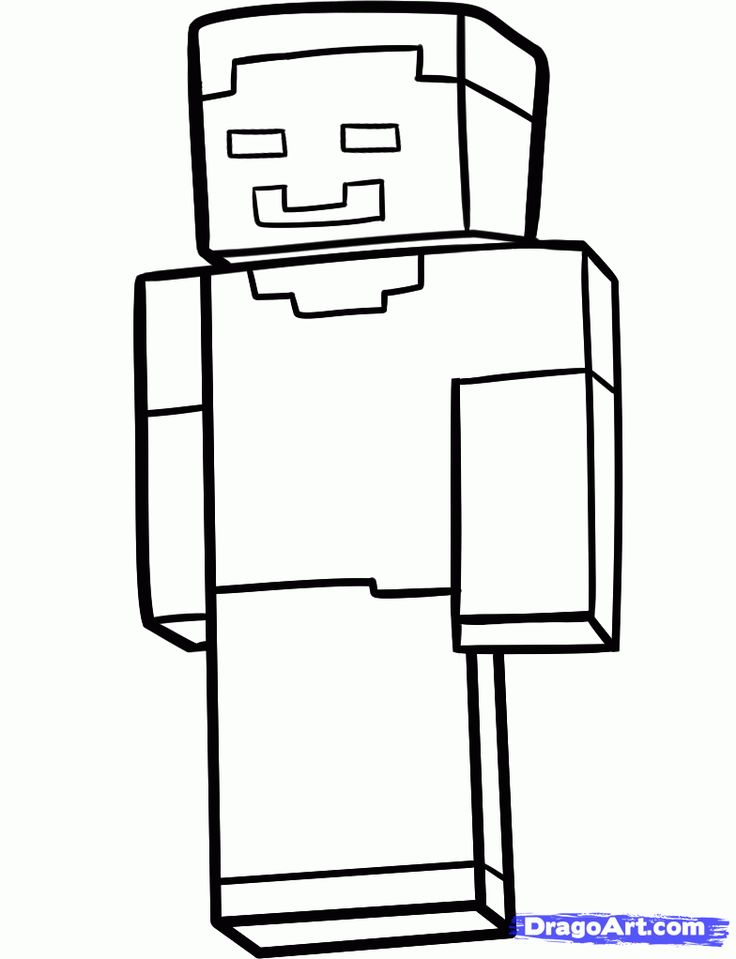 free minecraft coloring pages steve - photo#15