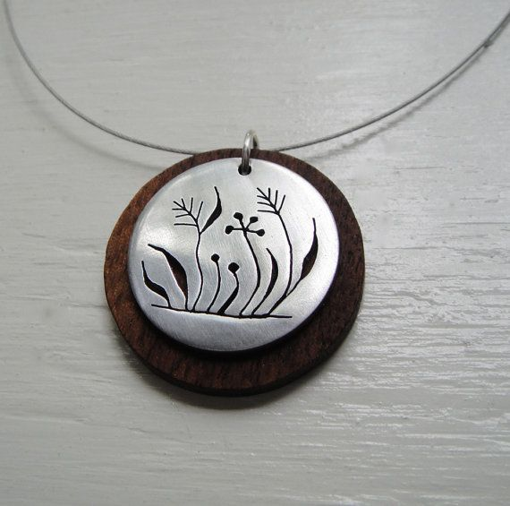 805 best metal piercing jewelry images on pinterest jewelry ideas weeds cutout neckwire necklace with walnut wood by janeeroberti 5800 walnut woodwooden jewelrymetal audiocablefo