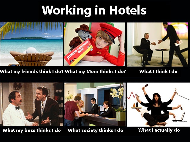 What People Think I Do / What I Really Do: Image Gallery ... Funny Hotel Jokes