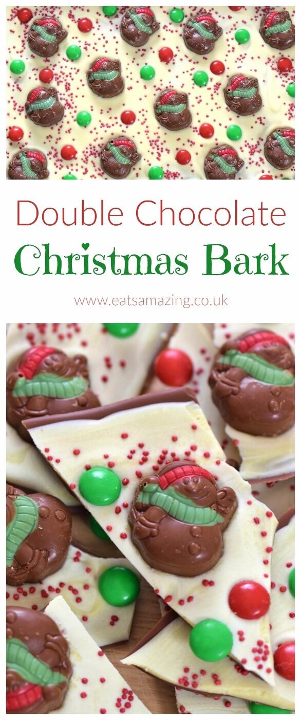 Quick And Easy Double Chocolate Christmas Bark Recipe