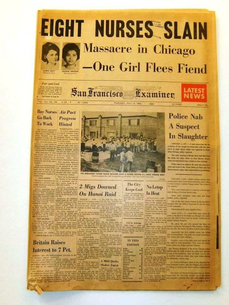 1966 nurse murders | 14 1966 Richard Speck Murders 8 Nurses in Chicago 8 Nurses Murdered ...