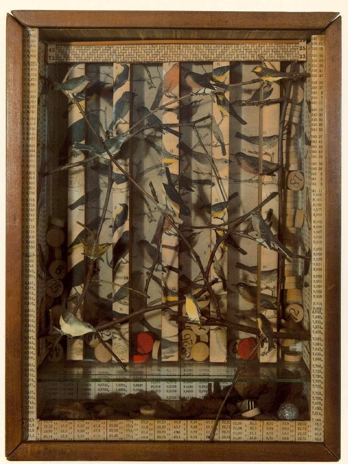 Joseph Cornell, Untitled 1942 (150 Kb); Construction, 13 1/8 x 10 x 3 1/2 in; Private collection, New York