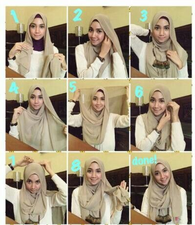 shifon hijab style