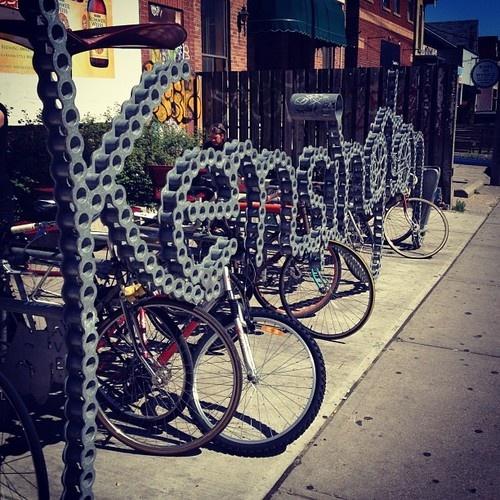 Kensington Market, Toronto - Bike Chain Sign #kensingtonmarket