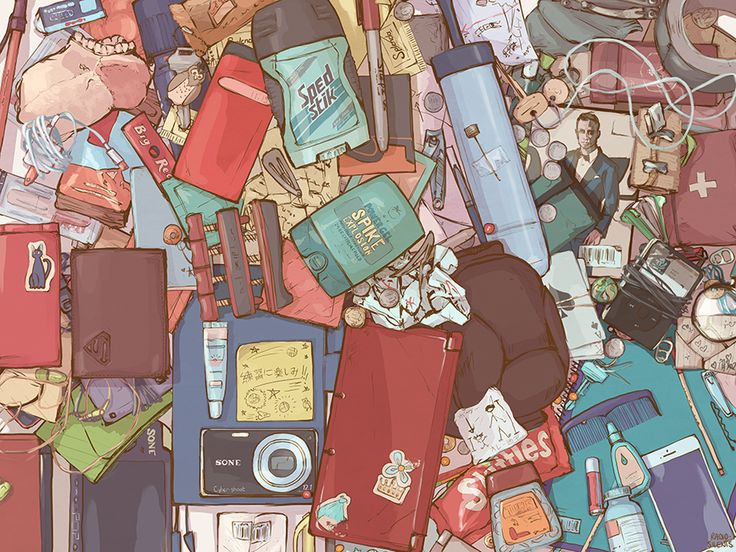 THE BIG OLD PILE OF STUFF (the layer mashup version of my haikyuu!! backpacks series)